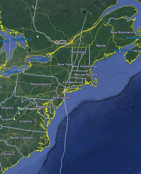 Hurricane Harold Striking the Northeast