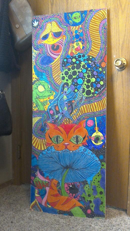Drywall Trippy Art