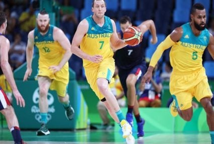 (The Boomers)Australian Men's Basketball Team won the first round match against France