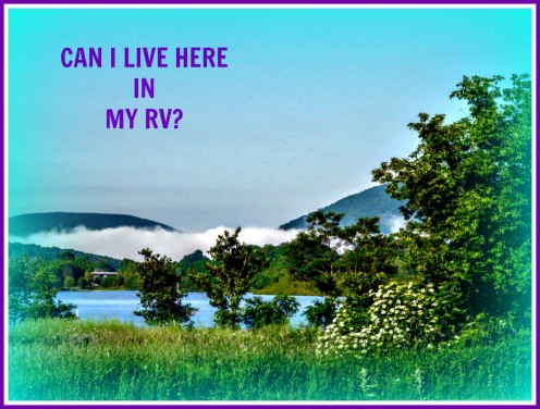 Can I live on my own property in my RV?