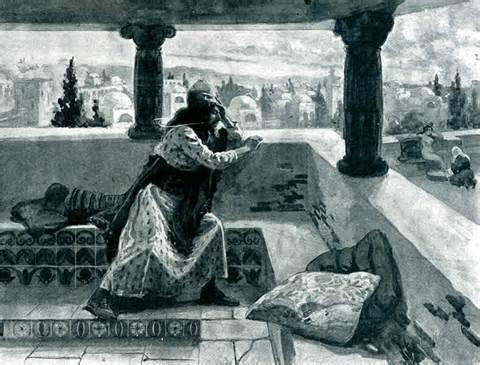 King David beholds Bathing Bathsheba, Uriah's Wife.