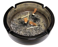 If the newlyweds are non-smokers, how will they react to an ashtray left on the kitchen table?