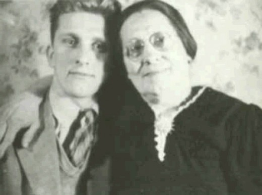 Kirk with his mother