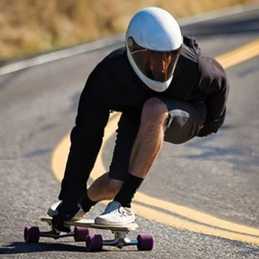 Carving Longboards Riding