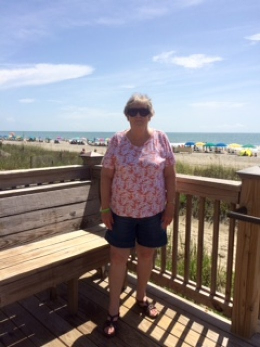 Walkway to Sun and Sand on the Atlantic Ocean
