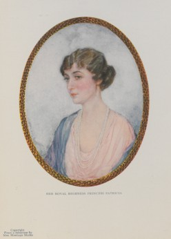 HRH Princess Patricia of Connaught, 1916 (Mortimer Company, from a minature by Mrs. Montagu Marks)