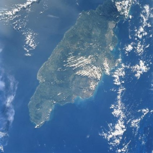 Jamaica Satellite View