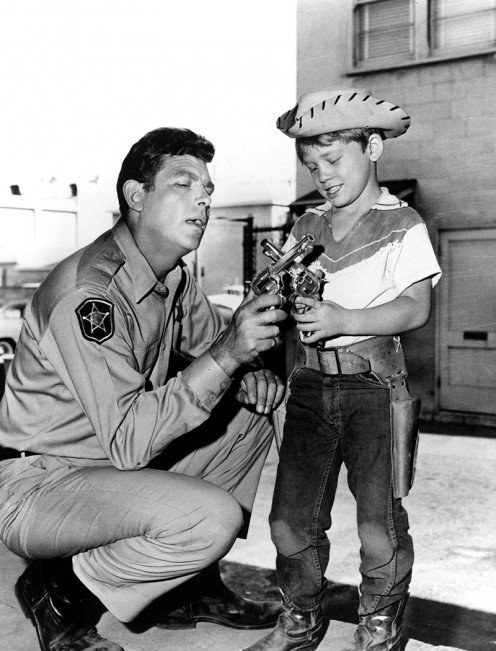"""Andy Taylor"" and son, ""Opie,"" Ronny Howard were a perfect match for father and son roles on the ""Andy Griffith Show"""