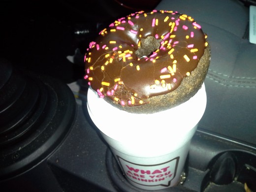 This was an AARP order of a large coffee when I received a free doughnut