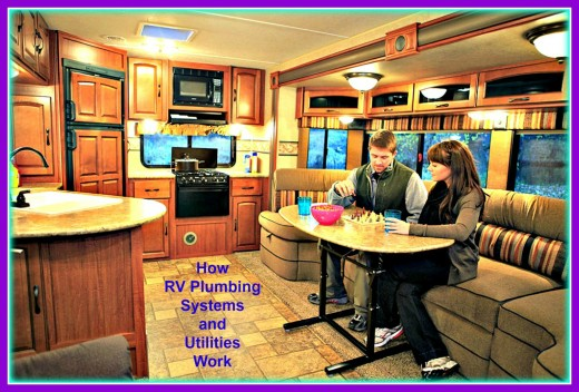 RVs do not have to be plugged in to outside utilities for people to be able to use them comfortably.