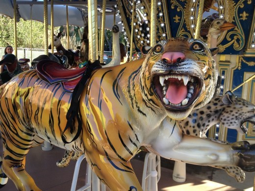 Horses are not the only animals used on carousels.