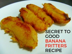 Secret to Good Banana Fritters Recipe