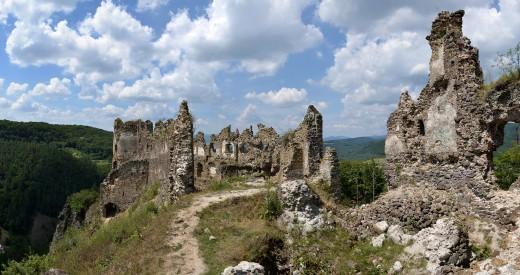 Ruins of castle in Šášovské Podhradie, Slovakia.