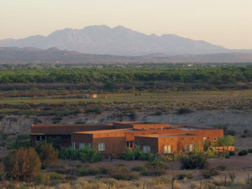 An adobe home south of the manzazo mountains in Socorro county