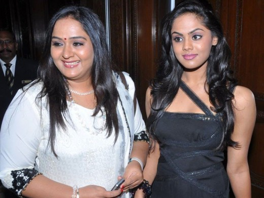 Radha and her daughter, Karthika Nair