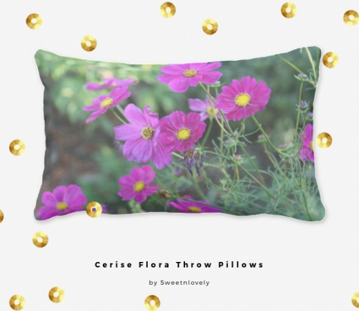 Bright Garden Pillow For A Beach House