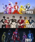 Mighty Morphin Power Rangers battlesuit original serie vs 1995 movie vs 2017 movie, share ur thought