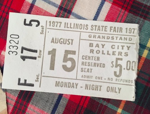 The Illinois State Fair Ticket Stub - August 15, 1977