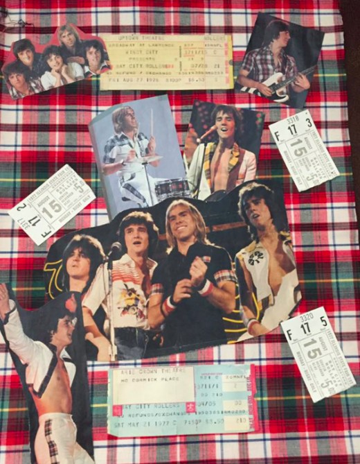 Bay City Rollers Ticket and Photo Montage