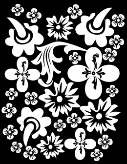 Free flower coloring page #1