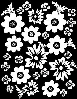 Free flower coloring page #2