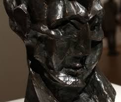 Head of a Woman (Fernande) 1909 Exaggerating the features and planes to heighten the effects of light and shadow wanted see how natural light interacts with his cubist surface.  Traditional bronze.