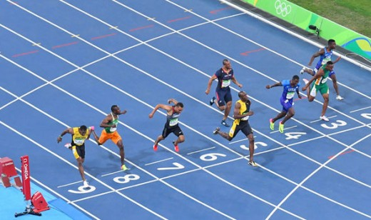 Contrary to popular reports, Usain Bolt does not run in iambic pentameter