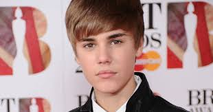 Justin Bieber in an old photo, at a Brit Awards event