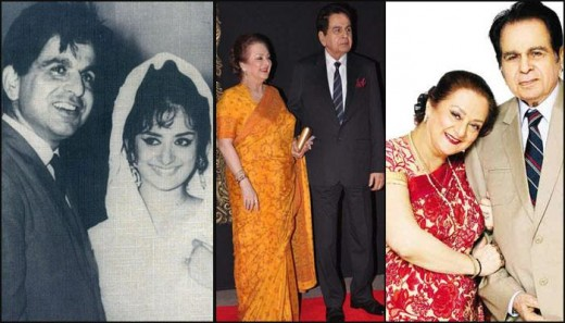 Dilip Kumar and Saira Banu. From their young picture to present one.