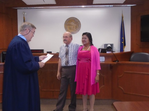 Our third wedding ceremony on August 17, 2016 at Marion Courthouse, Marion, Indiana, USA, officiated by Judge Haas.