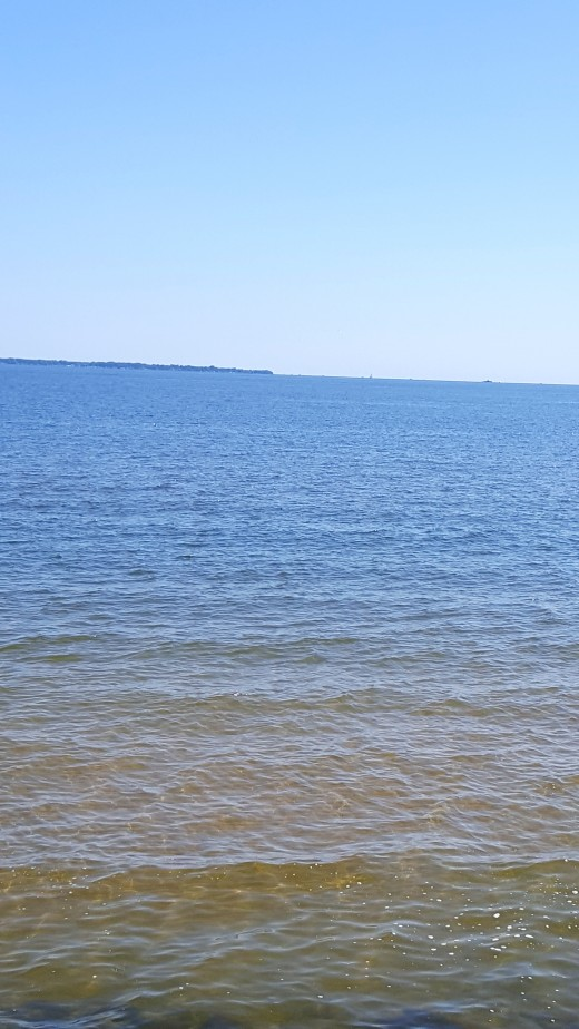 Lake Erie, off the beach at East Harbor State Park.