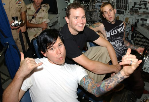 The previous lineup of blink-182, arguably at the height of their creative endeavour. For good or ill, however, a new chapter begins.