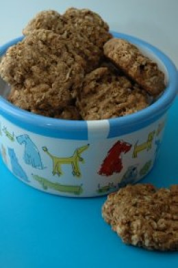 Peanut and Granola Dog Cookies!