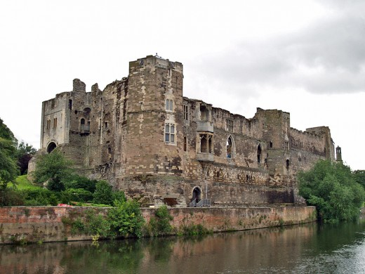 View of Newark Castle from the Great North Road.