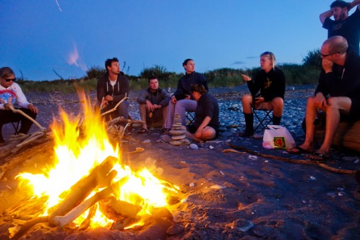 Huddle around a bonfire and catch up on old times!