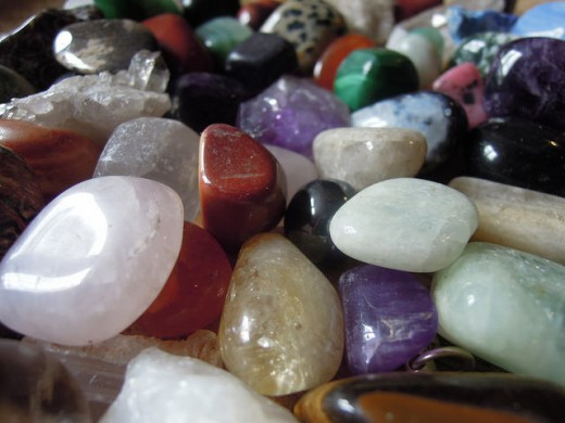 Healing crystals have many benefical qualities in helping ease stress and anxiety.