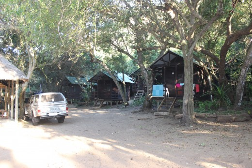 Log Huts - situated close to the dive camp.  Sleeps two, communal kitchen and ablutions.  No bedding provided.