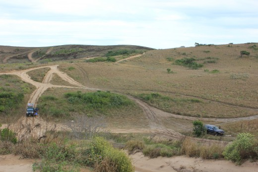 Track pollution on the dune roads to Ponta do Ouro.  These are for two way traffic, so do take care when coming up a blind rise and where possible, keep left.