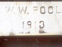 The date on the mantle over the entrance is the date his wife was interred.  Mr. Pool died February 1922, before the discovery documented by Howard Carter.