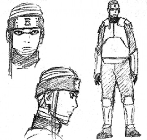 Sketch of Team Shinki's leader.