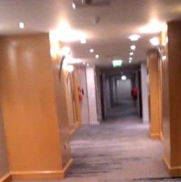 A hotel's hallway