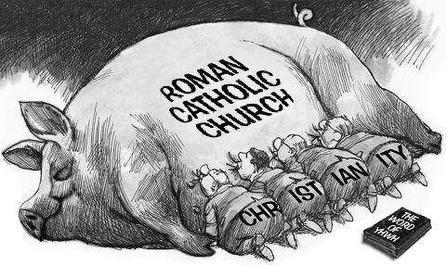 """""""Christianity"""" worships a Catholic God."""