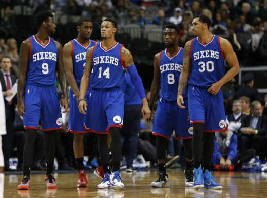 These are just five players of the Philadelphia 76ers basketball team.