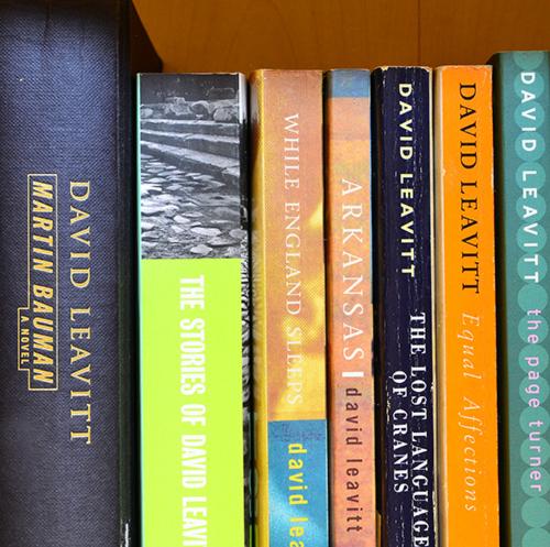 Selection of David Leavitt Books on my bookshelf.