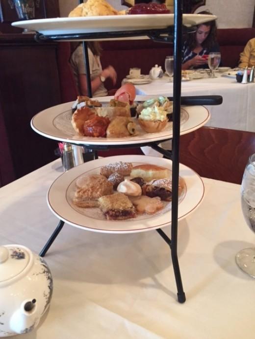 Dessert tower at Russian Tea Time