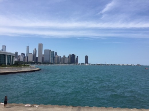 Chicago Skyline from Lake Shore Trail
