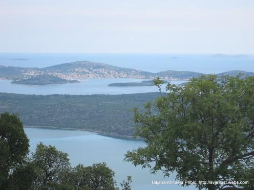 View on Island Murter, Vrana lake, Vransko jezero, Croatia, Dlamlatia