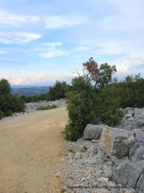 2000y old Roman road, hill Kamenjak, Vransko jezero
