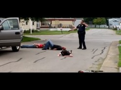 One officer put down three offenders who were rushing him