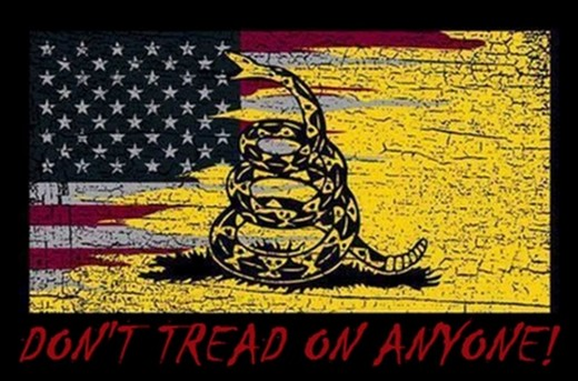 The libertarian rattler -- won't attack, will warn first, will strike only when trod upon.